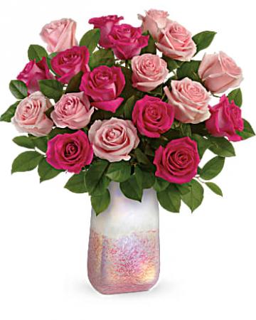 Teleflora's Rose Quartz Kisses Bouquet Fresh Arrangement