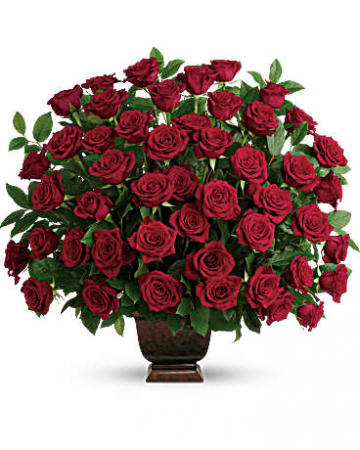 Teleflora's Rose Tribute Bouquet Urn