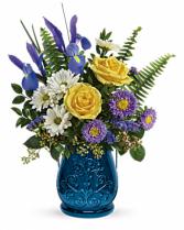 Teleflora's Sapphire Garden Bouquet Vase Arrangement