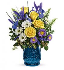 Teleflora's Sapphire Garden - 200 Flower arrangement