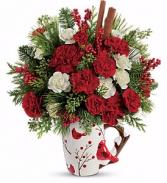 Teleflora's Send a Hug Christmas Cardinal Mug