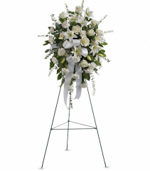Teleflora's Sentiments of Serenity Standing Spray