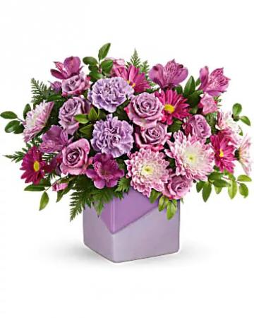 Teleflora's Shades of Lavender Vase Arrangement