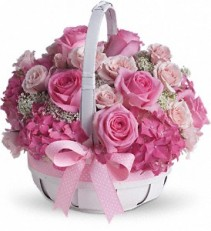 Teleflora's She's Lovely Basket Arrangement