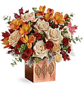Teleflora's Shimmering Leaves T19T305B Bouquet in Moses Lake, WA | FLORAL OCCASIONS