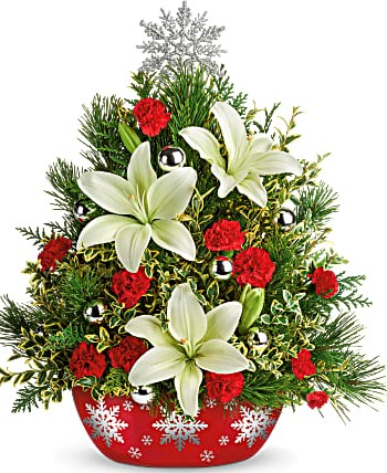Teleflora's Shimmering Snowflakes Tree