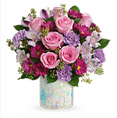 Telefloras shine in style bouquet