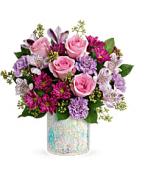 Teleflora's Shine in Style Bouquet Fresh Arrangement in a Keepsake Container