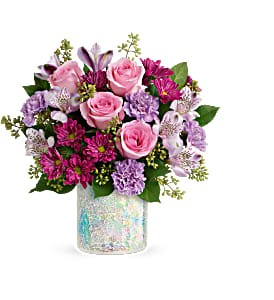 Teleflora's Shine in Style cylinder