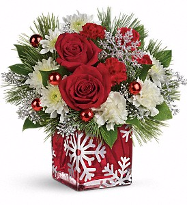 Teleflora's Silver Christmas Bouquet Christmas in Valley City, OH | HILL HAVEN FLORIST & GREENHOUSE