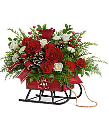 Teleflora's Sleigh Bells Bouquet Teleflora Christmas Fresh Arrangement