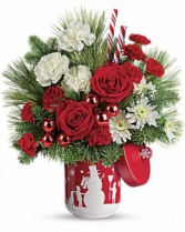 Teleflora's Snow Day Bouquet Christmas arrangement