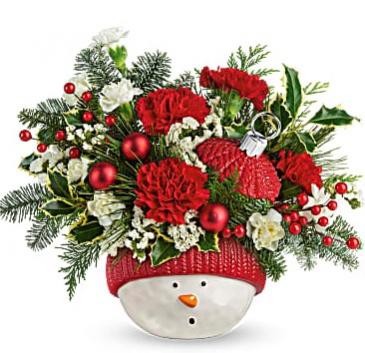 Teleflora's Snowman Ornament