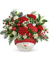 Teleflora's Snowman Ornament Bouquet Bouquet