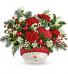 Teleflora's Snowman Ornament Bouquet T20X400 Keepsake Arrangement
