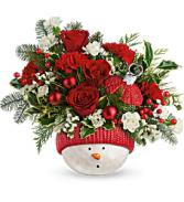 Teleflora's Snowman Ornament T20X400B Bouquet