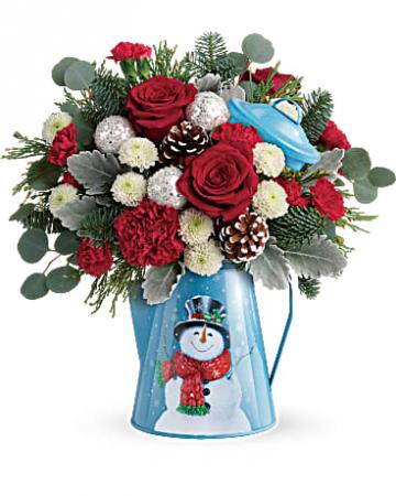 Teleflora's Snowy Daydream Vase Arrangement