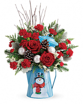 Teleflora's Snowy Daydreams Bouquet Arrangement
