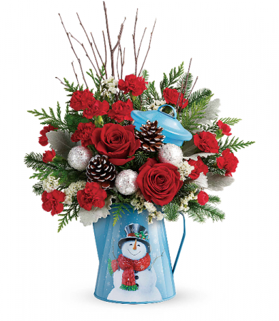 Teleflora Christmas 2020 Teleflora's Snowy Daydreams Bouquet Christmas Arrangement in
