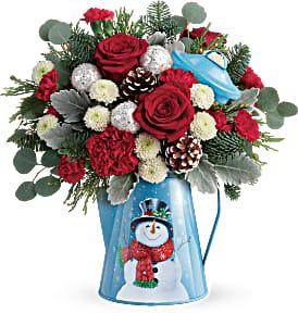 Teleflora's Snowy Daydreams Bouquet Fresh Arrangement