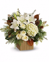 Teleflora's Snowy Woods Bouquet  Mixed Flowers Holiday Colors