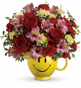 Teleflora's So Happy Your Mine Fresh Arrangement in a Keepsake Container