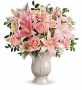 Teleflora's Soft and Tender -2786 Vase Arrangement
