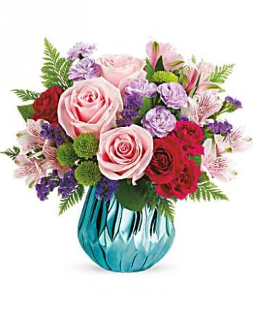 Teleflora's Sparkle and Bloom Bouquet Vase Arrangement