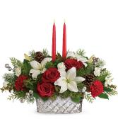 Teleflora's Sparkling Season Centerpiece Christmas Arrangement