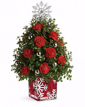 Teleflora's Sparkling Snowflake Tree Christmas in Valley City, OH | HILL HAVEN FLORIST & GREENHOUSE