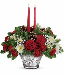 Teleflora's Sparkling Star Centerpiece T16X100A * Local Only