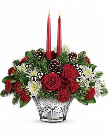 Teleflora's Sparkling Star  Christmas arrangement