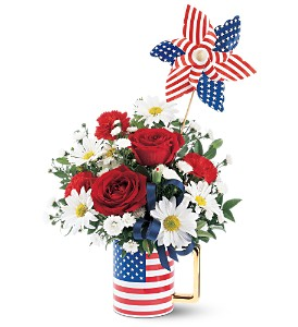 Teleflora's Spirit of America Mug Arrangement in Auburndale, FL | The House of Flowers
