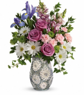 Teleflora's Spring Cheer Fresh Arrangement