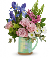 Teleflora's Spring is Served Pitcher Bouquet