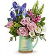 Teleflora's Spring is Served Vase
