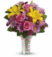 Teleflora's Spring Serenade Vased Fresh Flowers