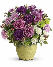 Teleflora's Spring Speckle Fresh Arrangement