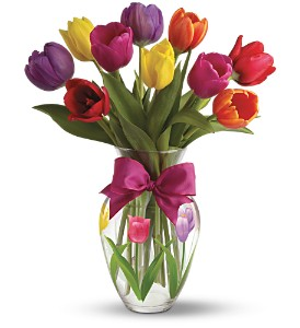 Teleflora's Spring Tulips 09E100B  Bouquet in Moses Lake, WA | FLORAL OCCASIONS