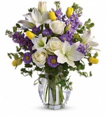 Teleflora's Spring Waltz Vased Arrangement