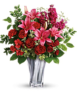 Teleflora's Sterling Love Bouquet Valentines Mix