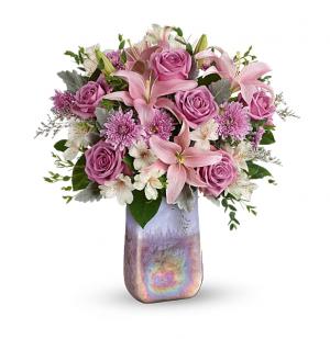 Teleflora's Stunning Swirls vase in Florenceville Bristol, NB | JT's Flowers