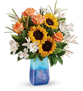 Teleflora's Sunflower Beauty Fresh Arrangement with a Teleflora Keepsake