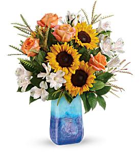 Teleflora's Sunflower Beauty Fresh Arrangement with a Teleflora Keepsake