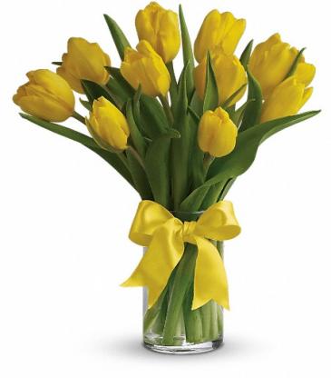 Teleflora's Sunny Yellow Tulips