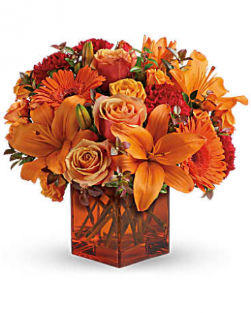 Teleflora's Sunrise Sunset  Fall Fresh Arrangement