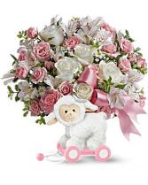 Teleflora's Sweet Little Lamb - Baby Girl