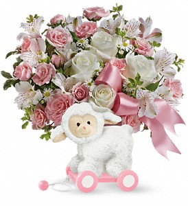 Teleflora's Sweet Little Lamb -Pink TNB03-1B  Bouquet in Moses Lake, WA | FLORAL OCCASIONS