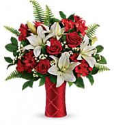 Sweet Satin Bouquet - 100 Vase arrangement