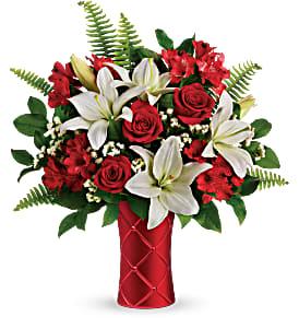 Teleflora's Sweet Satin Bouquet  Vase arrangement